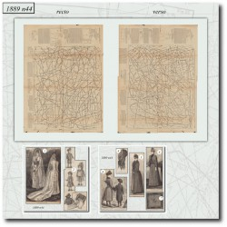Patrons de La Mode Illustrée 1889 N°44