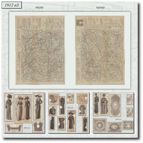 Sewing patterns La Mode Illustrée 1912 N°03