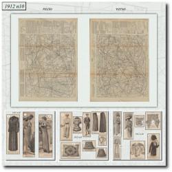 Patrons de La Mode Illustrée 1912 N°10