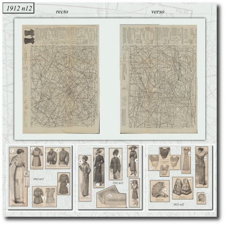 Sewing patterns La Mode Illustrée 1912 N°12