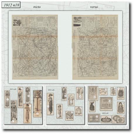 Sewing patterns La Mode Illustrée 1912 N°18