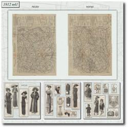 Patrons de La Mode Illustrée 1912 N°41