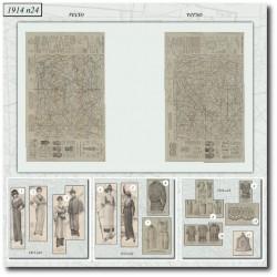 Sewing patterns-jacket-dress-skirt-1914-24