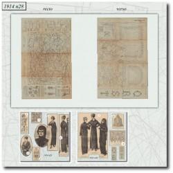 Patrons de La Mode Illustrée 1914 N°28