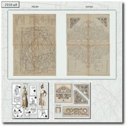 Sewing patterns La Mode Illustrée 1916 N°08