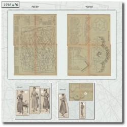 Patrons de La Mode Illustrée 1916 N°10