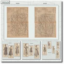 Patrons de La Mode Illustrée 1916 N°24
