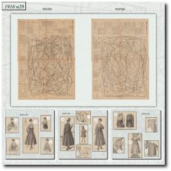 Sewing patterns La Mode Illustrée 1916 N°28