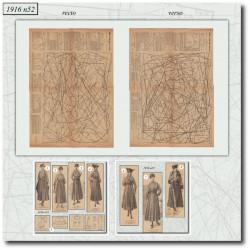 Patrons de La Mode Illustrée 1916 N°52