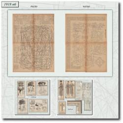 Sewing patterns La Mode Illustrée 1918 N°06