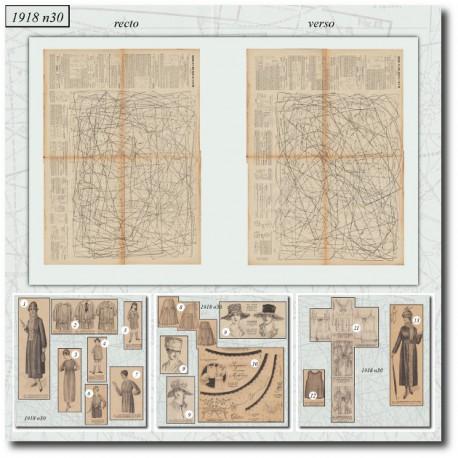 Sewing patterns La Mode Illustrée 1918 N°30