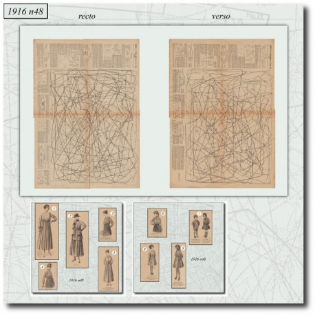 Patrons de La Mode Illustrée 1916 N°48
