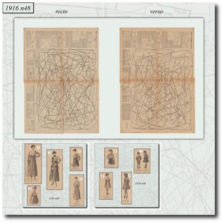 Sewing patterns La Mode Illustrée 1916 N°48