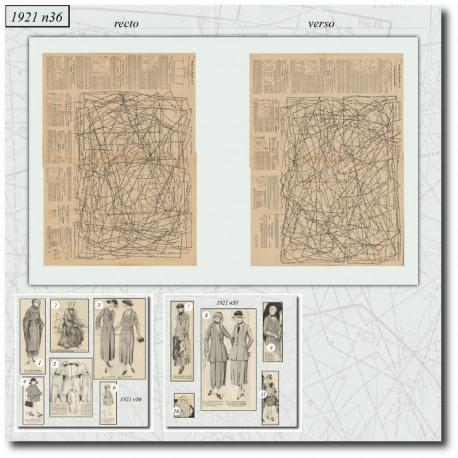 Patrons de La Mode Illustrée 1921 N°36