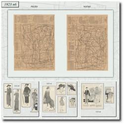 Patrons de La Mode Illustrée 1923 06