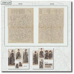 Patrons de La Mode Illustrée 1889 N°20