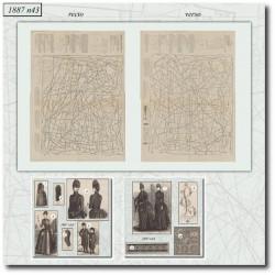 Sewing patterns La Mode Illustrée 1887 N°43