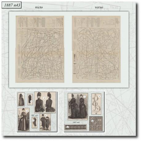 Patrons de La Mode Illustrée 1887 N°43