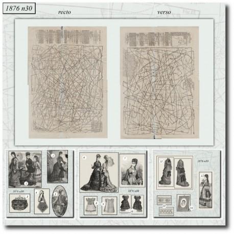 Patrons de La Mode Illustrée 1876 N°30
