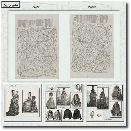 Patrons de La Mode Illustrée 1873 N°40