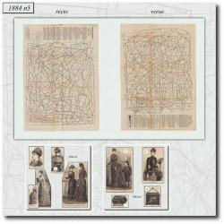 Patrons de La Mode Illustrée 1884 N°5