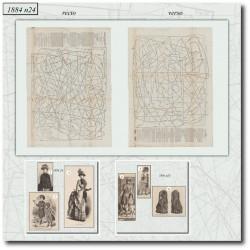 Patrons de La Mode Illustrée 1884 N°24