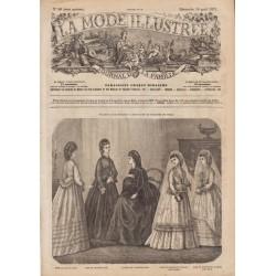 Complete magazine La Mode Illustrée 1871 N°16