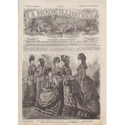 Complete magazine La Mode Illustrée 1875 N°40
