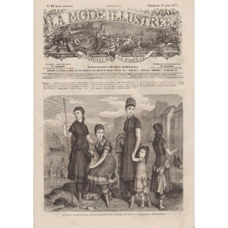 Complete magazine La Mode Illustrée 1877 N°24