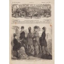 magazine La Mode Illustrée 1878 N°18
