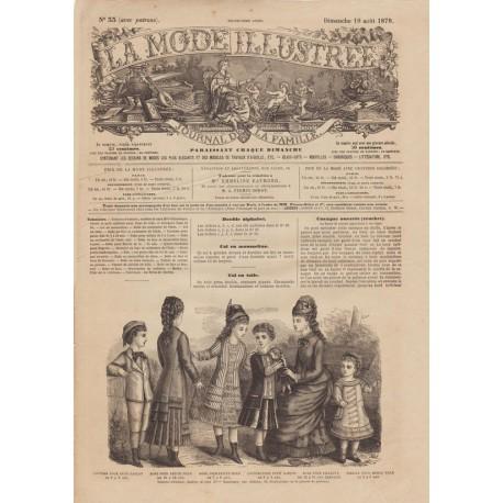 Revue complète de La Mode Illustrée 1878 N°33