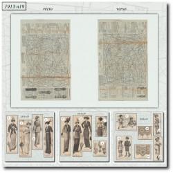Sewing patterns La Mode Illustrée 1913 N°19