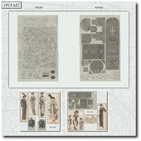 Patrons de La Mode Illustrée 1913 N°32