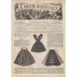 Complete magazine La Mode Illustrée 1861 N°13