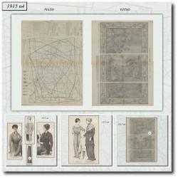 Sewing patterns La Mode Illustrée 1915 N°4