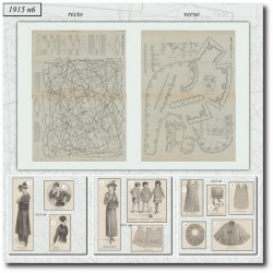 Sewing patterns La Mode Illustrée 1915 N°6