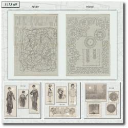Sewing patterns La Mode Illustrée 1915 N°9