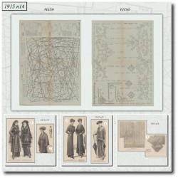 Sewing patterns La Mode Illustrée 1915 N°14