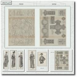 Sewing patterns La Mode Illustrée 1915 N°15