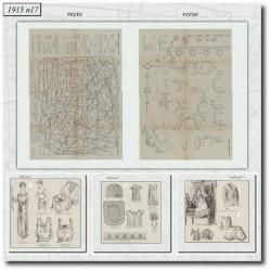 Sewing patterns La Mode Illustrée 1915 N°17