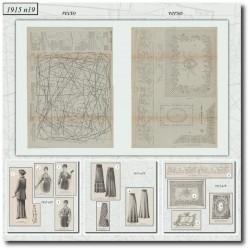 Sewing patterns La Mode Illustrée 1915 N°19