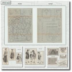 Sewing patterns La Mode Illustrée 1915 N°22