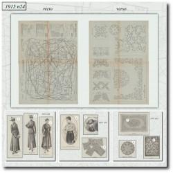 Sewing patterns La Mode Illustrée 1915 N°24