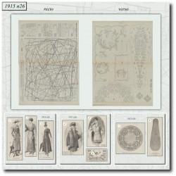 Sewing patterns La Mode Illustrée 1915 N°26