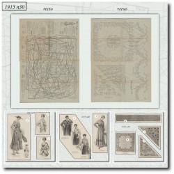 Sewing patterns La Mode Illustrée 1915 N°30