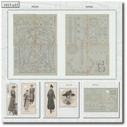 Sewing patterns La Mode Illustrée 1915 N°35