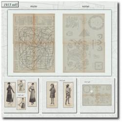 Sewing patterns La Mode Illustrée 1915 N°45