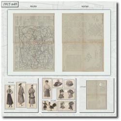 Sewing patterns La Mode Illustrée 1915 N°48
