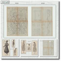 Sewing patterns La Mode Illustrée 1915 N°50