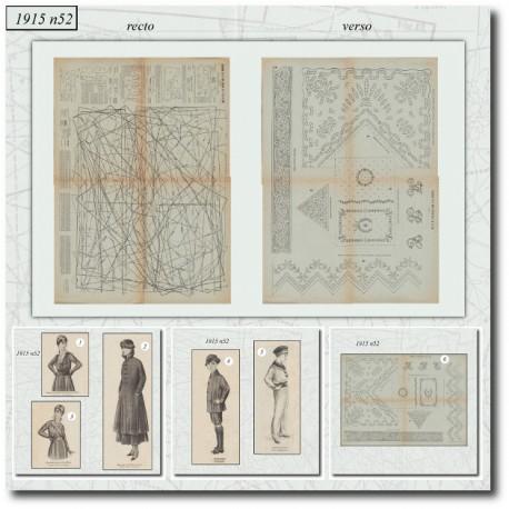 Sewing patterns La Mode Illustrée 1915 N°52